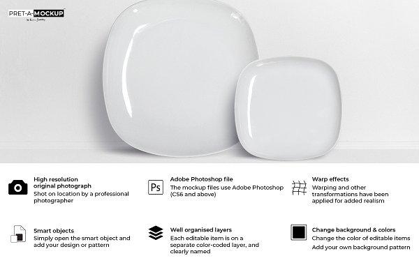 Square Plates Mockup