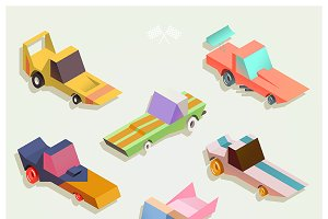 Isometric muscle/racing cars set