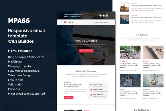 Mpass - Responsive Email template