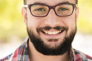 Hipster with glasses