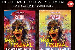 Holi - Festival Of Colors Flyer
