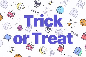 Trick Or Treat, Halloween Icons
