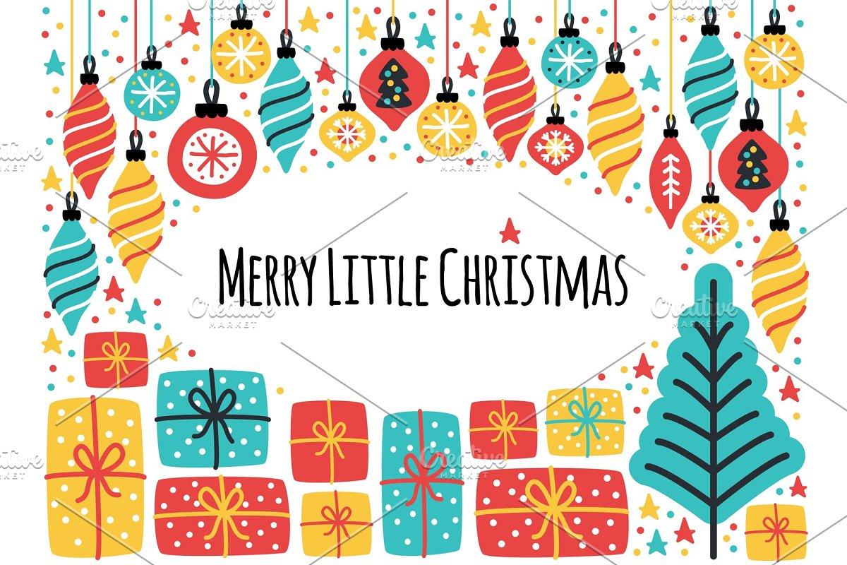 Cute Merry Little Christmas frame
