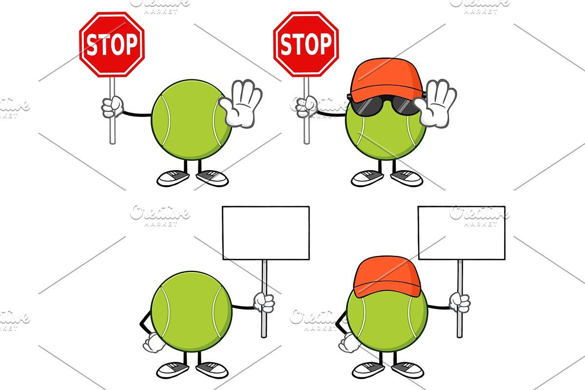 Tennis Ball Faceless. Collection 10