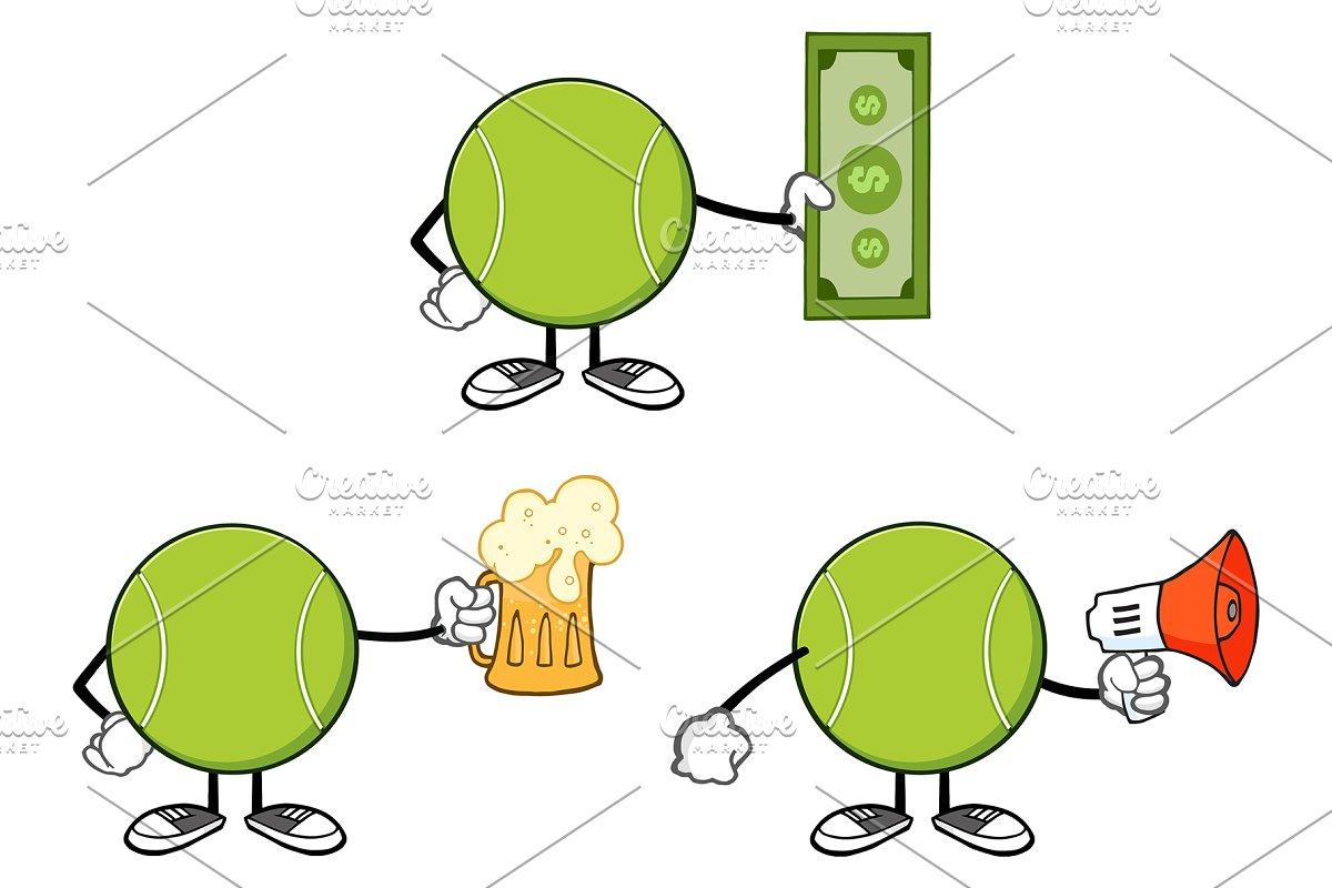 Tennis Ball Faceless. Collection 11