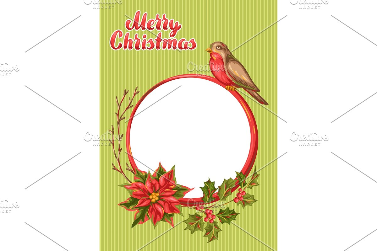 Merry Christmas frame design.