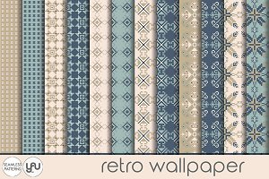 Retro digital paper: RETRO WALLPAPER