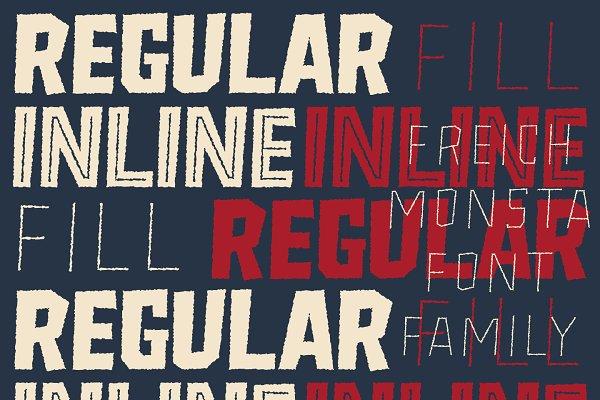 Best Freich Monsta - Vintage Horror Fonts Vector