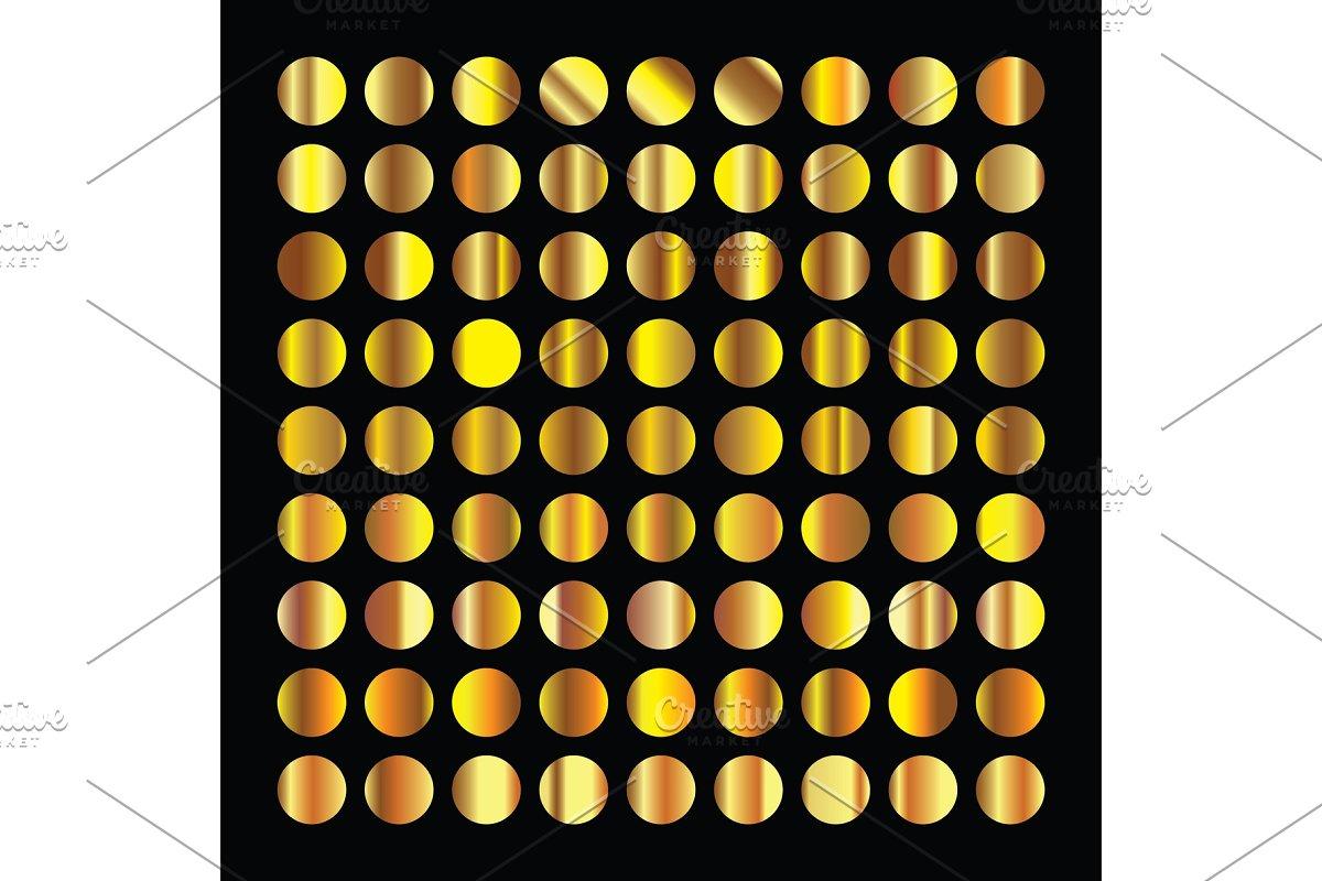 Golden circles collection. Gold