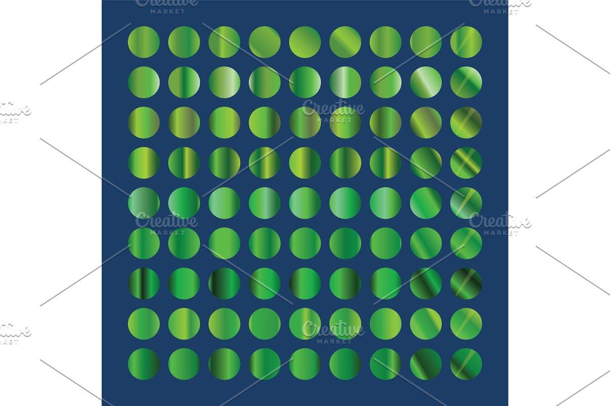 Green circles collection. Green