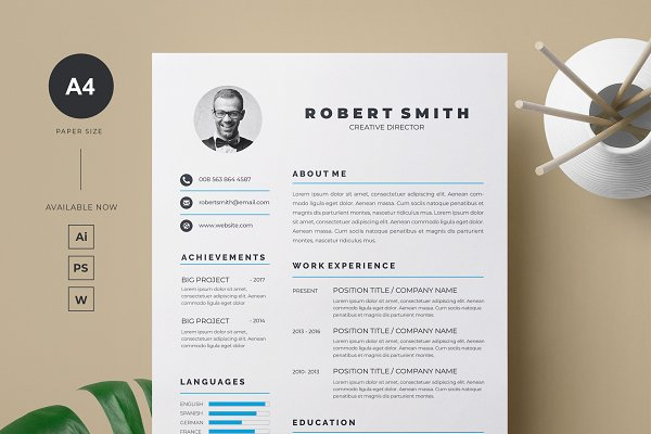 Resume And Letterhead Template Creative Illustrator Templates
