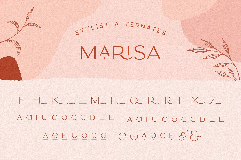 Шрифт – Marisa