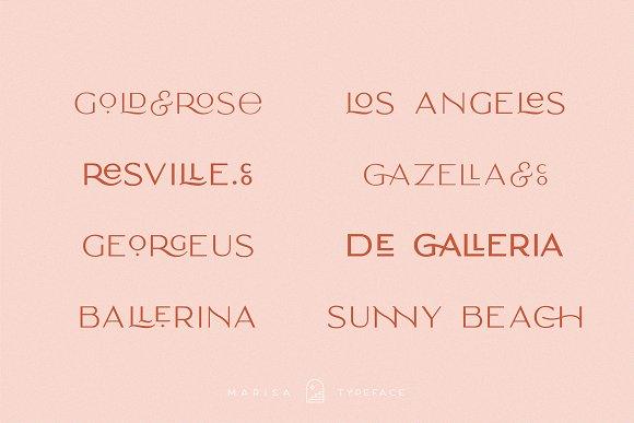 Classy Marisa - Elegant Typeface in Sans-Serif Fonts - product preview 5
