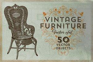 Vintage Furniture Vector Set
