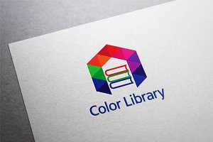 Color Library Logo Template