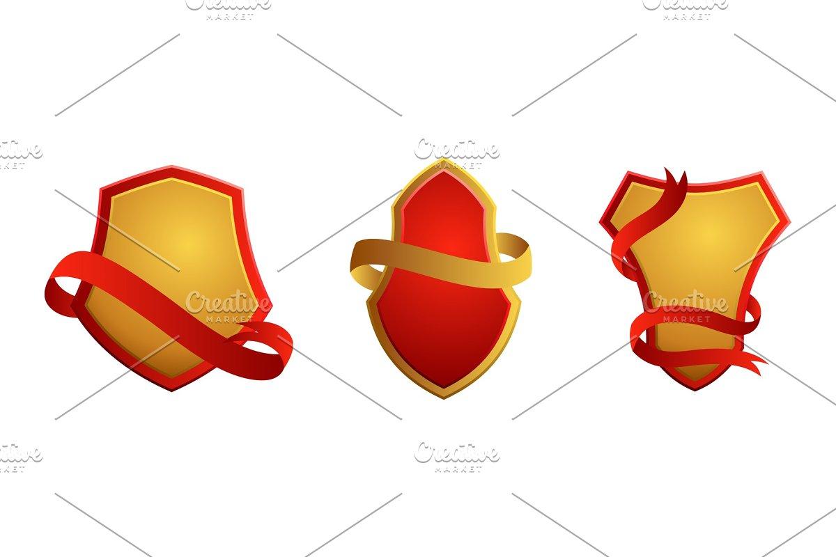 Set of vintage badges  Shields with