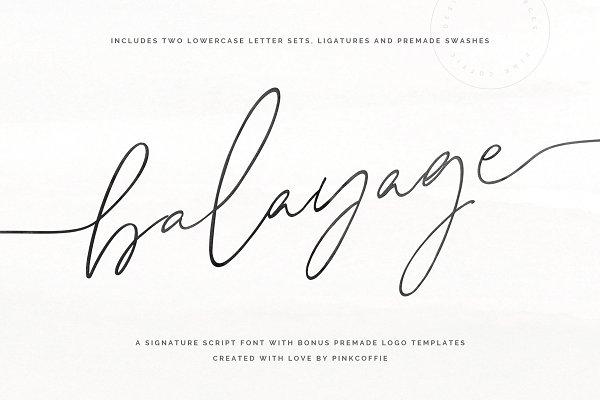 Balayage Script + Logo Templates