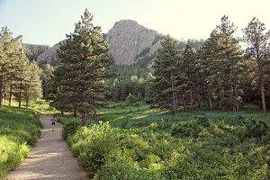 Girl Running on Path, Boulder, CO.