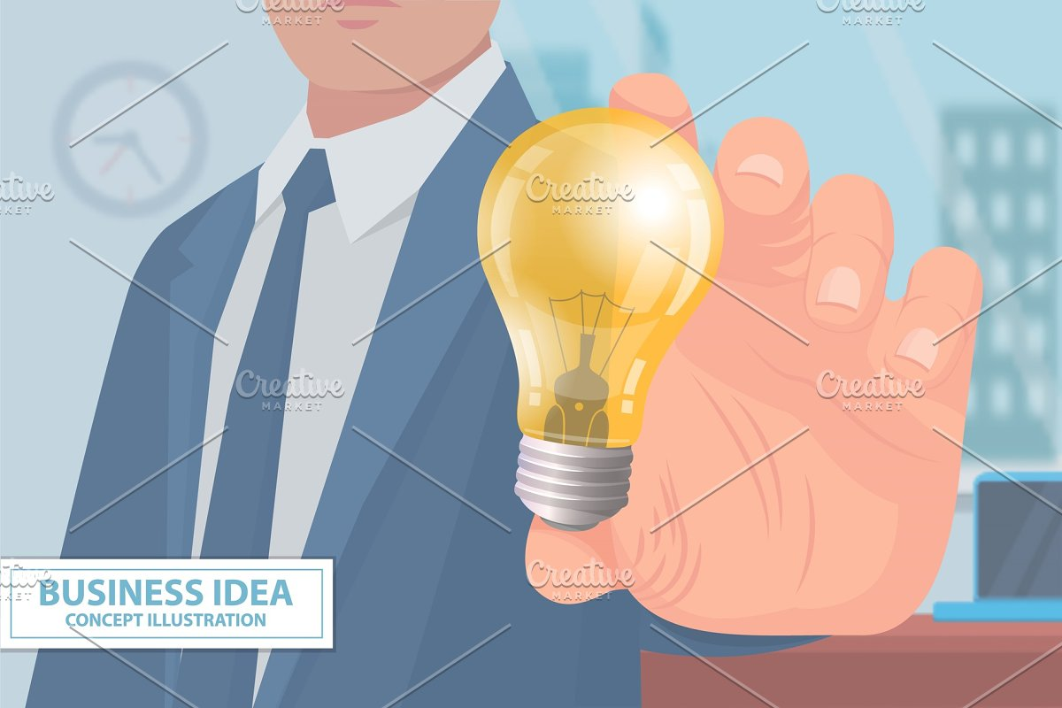 Business Idea Concept Illustration