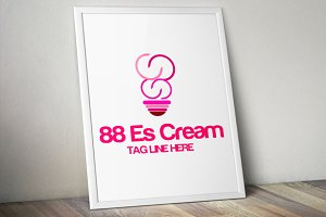 Infinity Ice Cream Logo Template