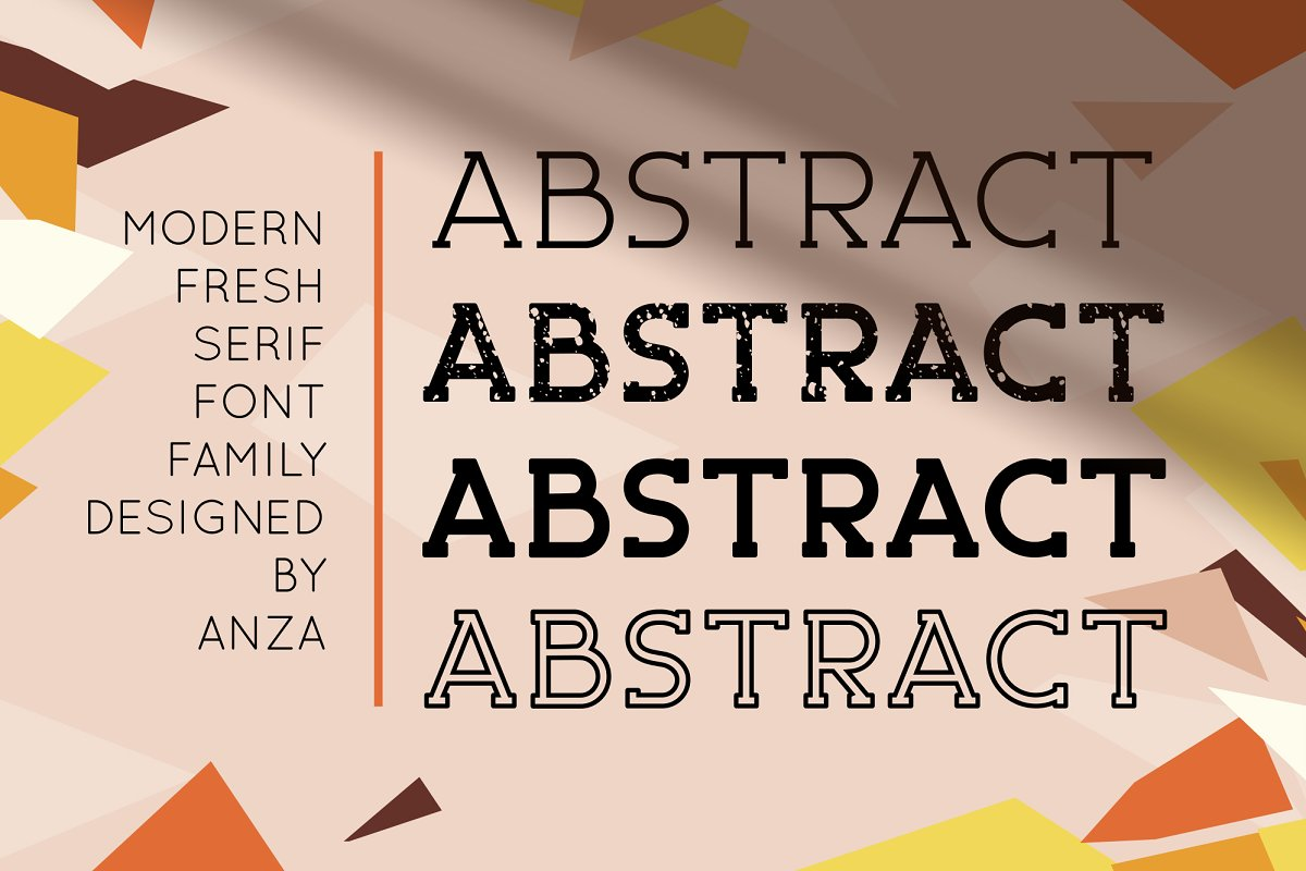 ABSTRACT - Fresh Serif Font Family
