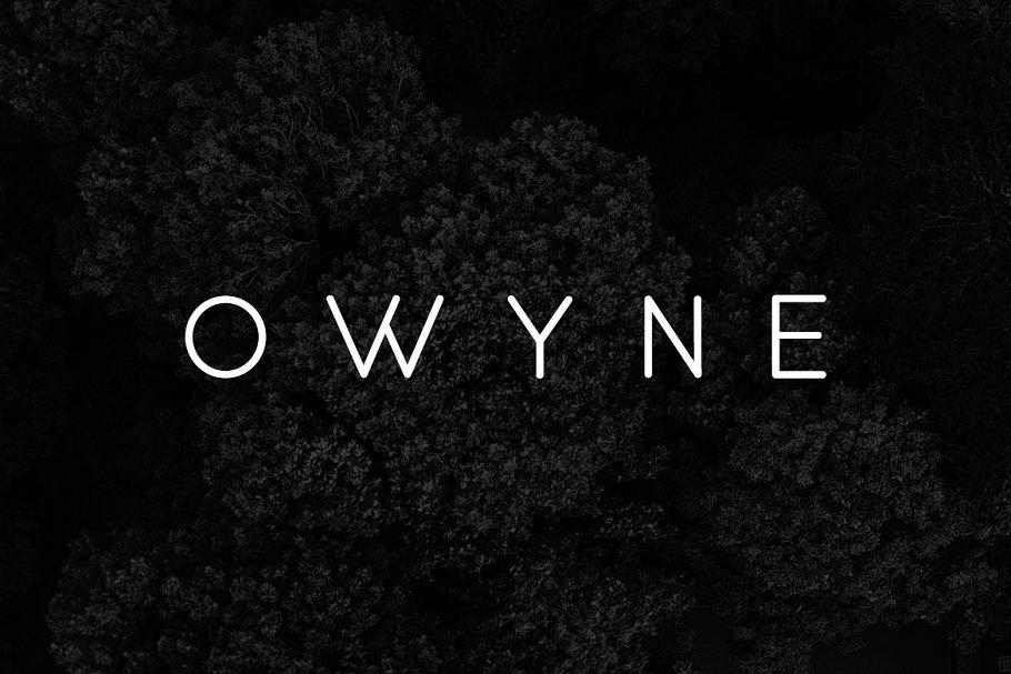 OWYNE - Modern & Stylish Typeface