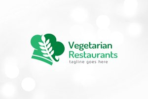 Vegetarian Restaurant Logo Template