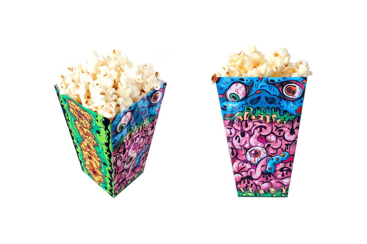 Halloween Zombie Popcorn Box in Stationery Templates