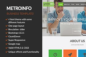 Bootstrap Multipurpose HTML 5 Templa
