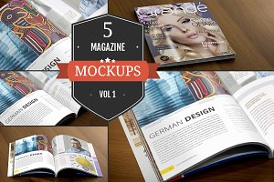 Amazing Magazine Mockups Vol. 1