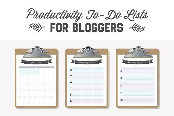 To Do Lists For Bloggers Stationery Templates Creative Market