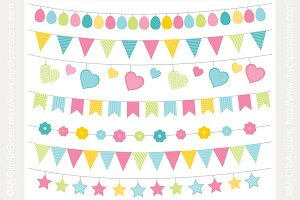 70% OFF - Easter Bunting (Pastels)