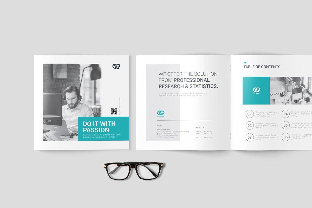 Square Company Brochure ~ Brochure Templates ~ Creative Market