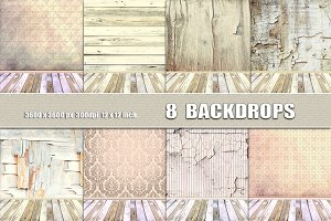 Vintage Room Photo Backdrops