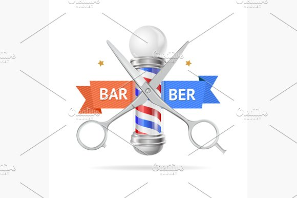 Barber Concept. Vector - Illustrations