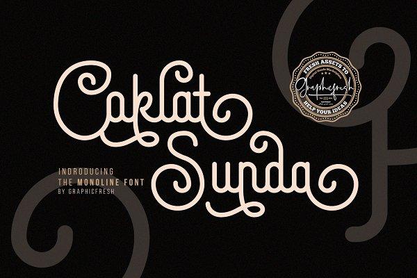 Coklat Sunda - The Monoline Font