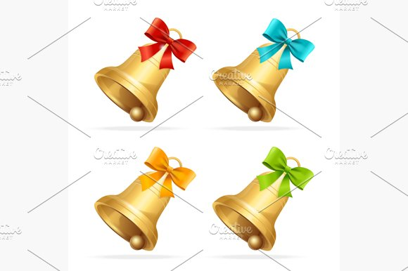 Christmass Bell Set. Vector - Objects