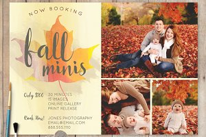 Fall Mini Session PSD Template