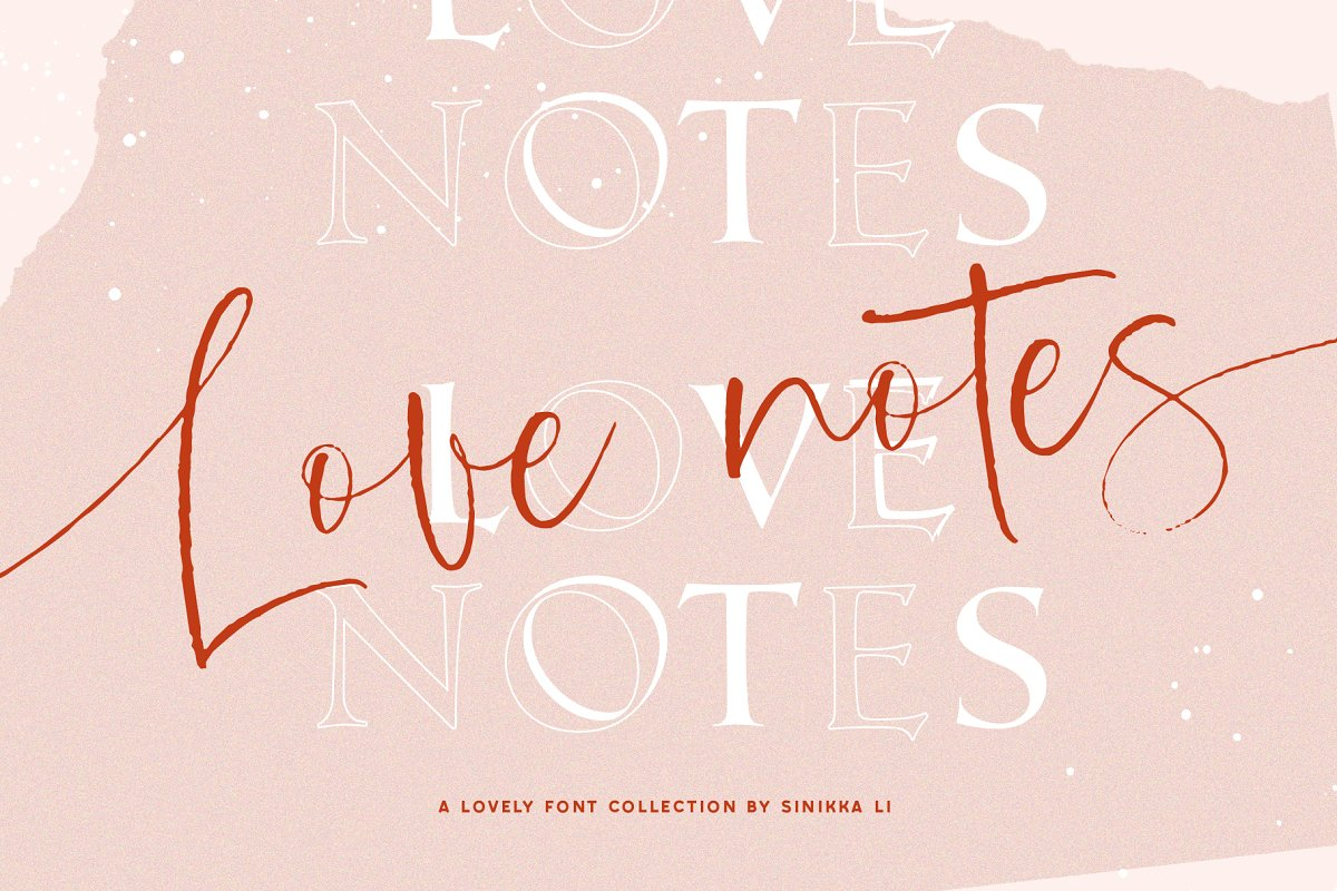LOVE NOTES | FONT COLLECTION
