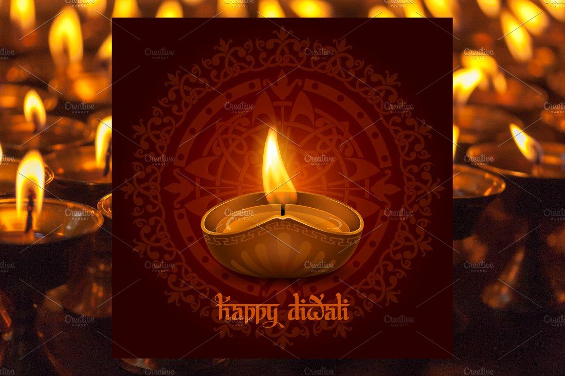 Happy Diwali Card Templates Creative Market