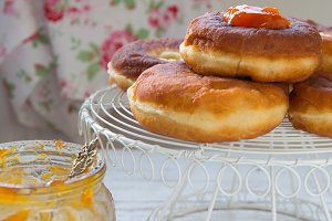 Doughnuts with Jam