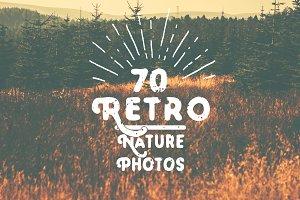 Retro Nature Background Pack