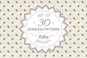 Set of 30 geometric patterns