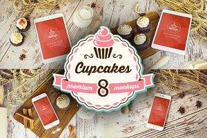 8 PSD Mockups Cupcakes