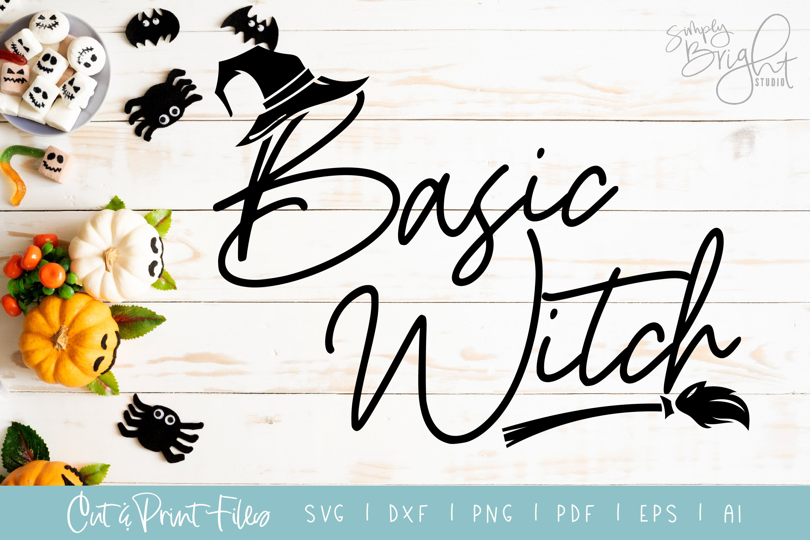 Basic Witch Svg Cut Print Files Pre Designed Illustrator Graphics Creative Market