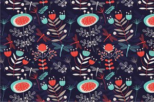 "Seamless pattern ""Summer night"""