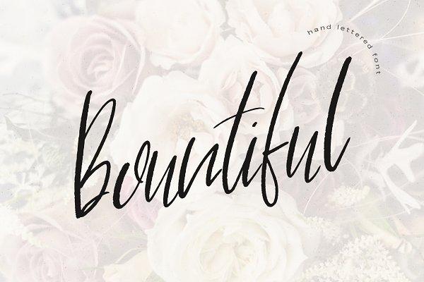 Bountiful Handlettered Font