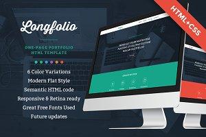 Longfolio HTML template