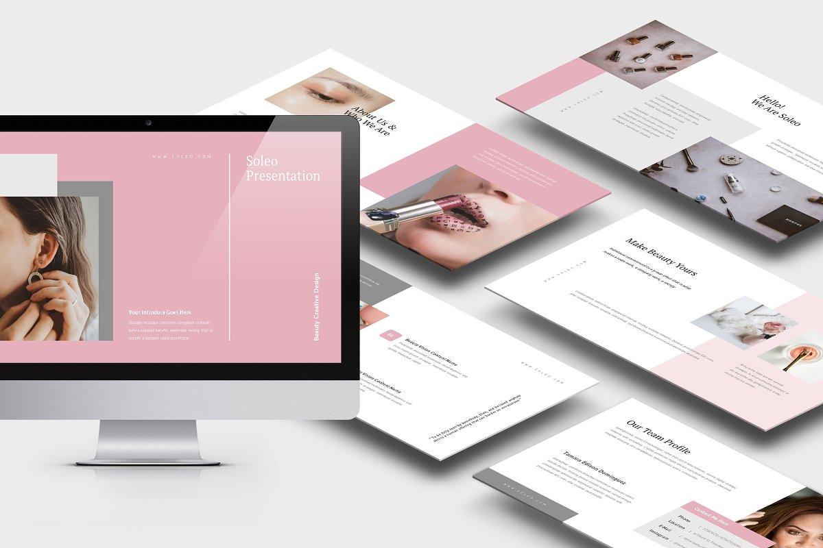 Soleo : Beauty Business Powerpoint ~ Presentation Templates