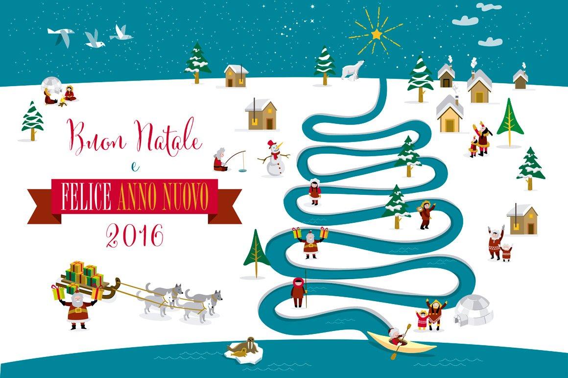 Christmas card 2016 (Italian) ~ Illustrations ~ Creative Market